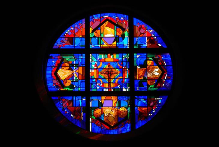 Stephen Wilson Stained Glass Rose Windows St Anthony Of Padua Catholic Church Day Chapel Window